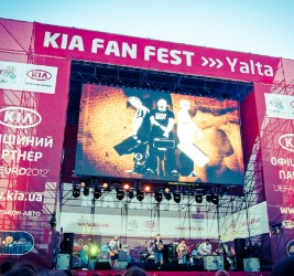 KIA Fan Fest in Yalta