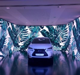 Presentation of a hybrid car Lexus
